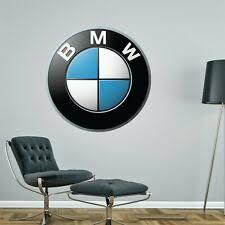 Bmw Badge Wall Decal Decor Bedroom Garage Big Wall Car Logo Sticker Decal Ebay