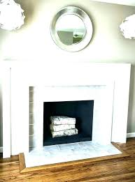 black marble tile fireplace polished