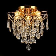 crystal chandelier lighting living room