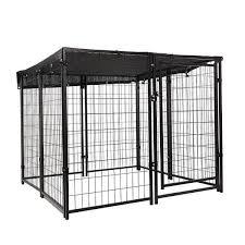 Shop 8 Piece 45 7 H Outdoor Heavy Duty Metal Dog Fence Kennel Enclosure Overstock 31733750