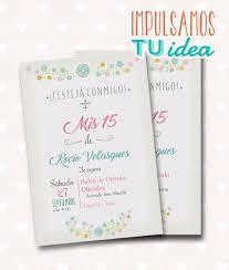Invitacion De Quince Tarjeta De 15 Para Imprimir Flores 235