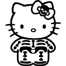 Hello Kitty Skeleton X Ray Vinyl Sticker For Your Wall Car Or Truck Fun Decals For Cars Halloween Decals Hello Kitty Stickers Vinyl Decals