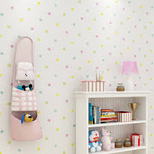 Colorful Polka Dots Printed Wallpaper Kids Room Wall Paper Lovely Children S Bedroom Self Adhesive Mural Wallpapers Roll Ez131 Wallpapers Aliexpress