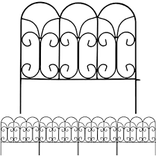 Amagabeli Rustproof Folding Metal Garden Border Fence 5 Panels Garden Fence Garden Fencing Panels Decorative Fencing Folding Patio Fences Panels 18 By 18 5 Buy Products Online With Ubuy Kuwait In Affordable Prices B01jlh55qg