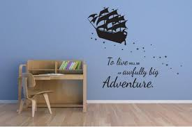 Peter Pan Wall Decal Pirate Ship Vinyl Sticker Etsy