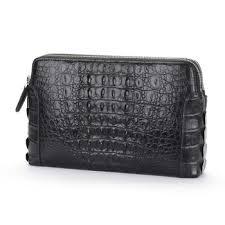 dae crocodile leather clutch bag