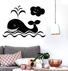 Wall Stickers Vinyl Decal Whale For Bathroom For Kids Animal Ocean Mar Wallstickers4you