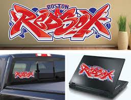 Boston Red Sox Graffiti Mlb Baseball Vinyl Car Laptop Cornhole Etsy