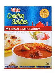 gits madras lamb curry sauce 300g