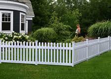 No Dig Garden Fence Panels Lawn Garden Fencing Panel Vinyl Yard Barrier White For Sale Online