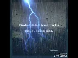 quotes tentang hujan dan rindu