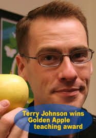 Terry Johnson wins Golden Apple teaching award