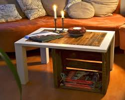 coffee table made from wooden crates