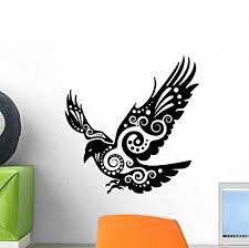 Raven Wall Decal By Wallmonkeys Peel And Stick Graphic 12 In H X 12 In W Wm90198 Baby B014u22h2w