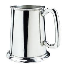 salisbury pewter glass bottom tankard
