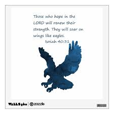 Isaiah 40 31 Bible Verse Eagle Wall Decal Zazzle Com