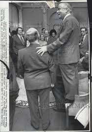 Mayor of New York Abraham Beame Standing in Chair 1974 Vintage Press Photo  Print | Historic Images
