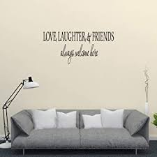 Amazon Com Wall Decal Quote Welcome May All Who Enter As Guests Leave As Friends Home Kitchen