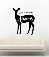 Amazon Com Harry Potter Wall Decals Severus Snape Patronus And Quotes After All This Time Always Decor Stickers Vinyl Mk2908 Home Kitchen
