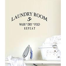 Decal Laundry Wash Dry Fold Repeat Wall Or Window Decal 12 X 25 Black Walmart Com Walmart Com