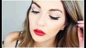 1950s makeup tutorial winged liner with
