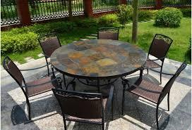mosaic slate stone garden patio table