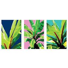 tropical garden printed wall art