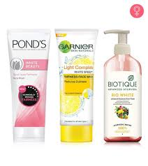 10 best skin whitening face washes of