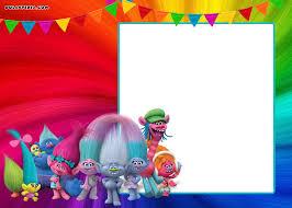 Free Printable Trolls Invitation Template Fiesta De Cumpleanos