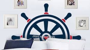 Nautical Steering Wheel Wall Decal Anchors Stickers Ship Wheel Decor For Kids Room Boy Bedroom Nursery Home Decor Mural Se042 Wall Stickers Aliexpress
