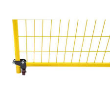 Perimeter Patrol 4 In H X 1 In W Powder Coated Steel Swing Gate Wheel For Temporary Fencing Rf 11005 The Home Depot