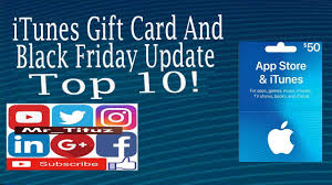 itunes gift card and black friday