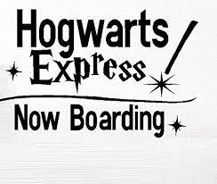 Amazon Com Hogwarts Express Now Boarding Children S Wall Or Window Decals Black Home Kitchen