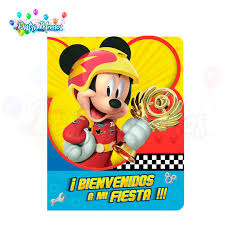 Invitacion Mickey Aventuras Sobre Ruedas Distrimemos