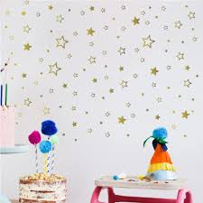 Amazon Com Iarttop Gold Star Wall Decals Creative Stars Removable Vinyl Sticker Sparkling Wall Decal For Kids Room Girls Bedroom Decor 166pcs Beautiful Nursery Classroom Decoration Arts Crafts Sewing