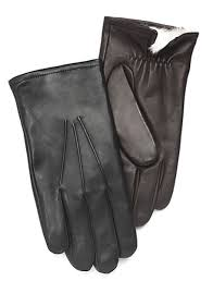 rabbit fur lined leather gloves