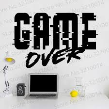 Game Wall Decal Teen Boy Room Decor Game Over Decal Playroom Decorgame Over Sticker Boy Room Decor Gamer Sticker Pw228 Wall Stickers Aliexpress