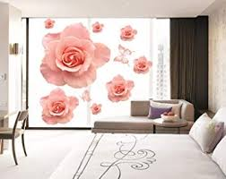 Kappier Large Romantic Pink Roses Removable Wall Decal Wall Decor Stickers Amazon Com