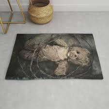 trapped teddy bear rug by mariaheyens