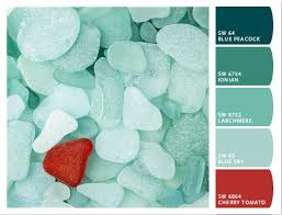 coastal decor color palette teal sea
