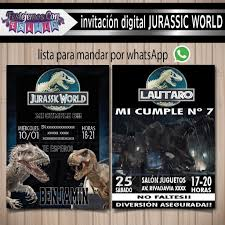 Invitacion Digital Personalizada Jurassic World 130 00 En