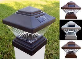 Solar 4 X 4 Square Led Pvc Vinyl Fence Post Cap Light Products 4 Less