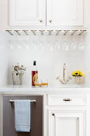 under cabinet wine glass rack