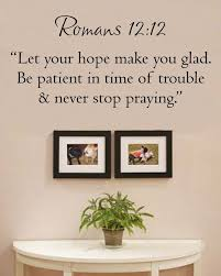 Romans 12 12 Let Your Hope Make You Glad Be Patient In Time Of Trouble