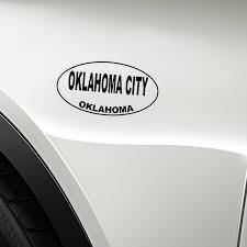 Yjzt 13 7cm 7 3cm Oklahoma City Oklahoma Oval Car Sticker Vinyl Decal Black Silver C10 01733 Car Stickers Aliexpress