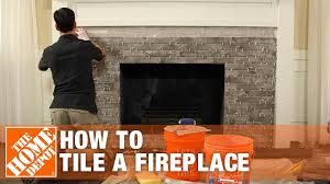 tiling a fireplace diy project the