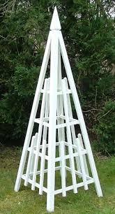 spire wooden garden obelisks the