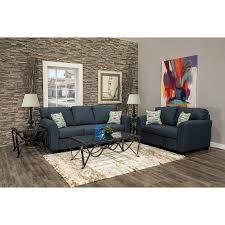 navy blue 7 piece living room set