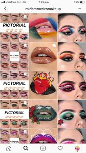 insram feed ideas for makeup artists