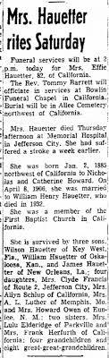 Effie Hauetter Obituary - Newspapers.com